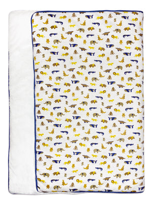 Fluffy Animal Parade Blanket by Albetta