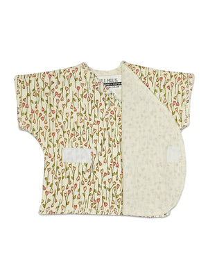 Floral Heart Print Short Sleeve Shirt (Premature Baby, 1.5-3lb)
