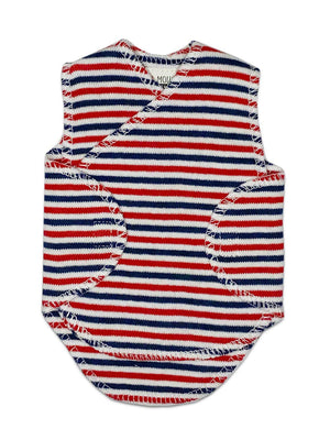 Premature Baby Incubator Vest -  Red, White and Blue Stripe - Incubator Vest - Little Mouse Baby Clothing & Gifts