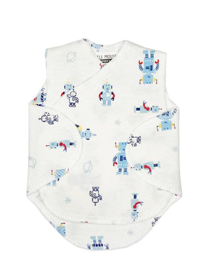 Premature Baby Incubator Vest - Robot Print - Incubator Vest - Little Mouse Baby Clothing & Gifts