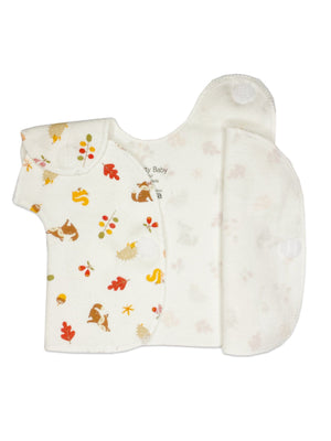 Woodland Animal Wrapover Top (Premature Baby, 1-3lb & 3-5lb) - Incubator Vest - Itty Bitty Baby Clothing