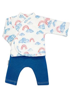 Preemie Shirt & Trouser Set, Cloud & Rainbow, 1.5-3lb & 3-5lb