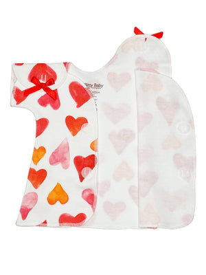 Red Heart Premature Baby Dress (1-3lbs & 3-5lbs)