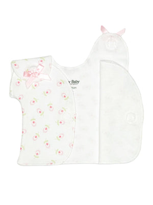 Dainty Floral Wrap Over Top ( 1-3lb & 3-5lb) - Incubator Vest - Itty Bitty Baby Clothing