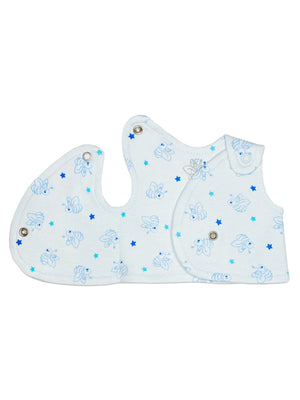 Incubator Top - Blue Bee & Stars - Organic Cotton (1.5-3lb & 2-4lb)