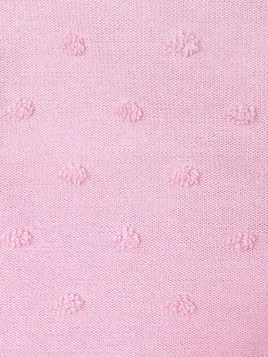 Pink Tufted Polkadot Footed Sleepsuit 3-5lbs & 5-8lbs