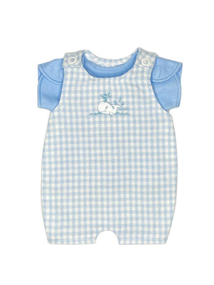 Little Whale Dungaree and T-shirt Set (Premature Baby, 1-3lb)