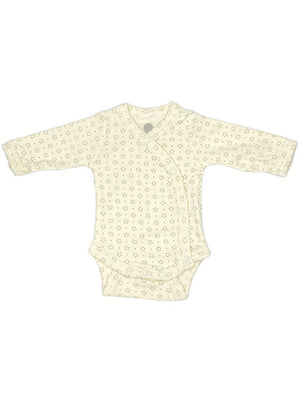 100% Cotton Cream Star Print Long Sleeve Vest (1.5-3lb & 3-5lb)