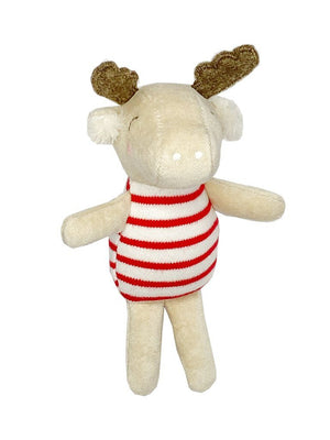 Stripy Reindeer - Gorgeous Little Rattle By Albetta