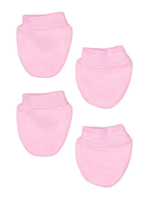 Tiny Baby Scratch Mitts, 2 Pack, Pink, 4-7lb