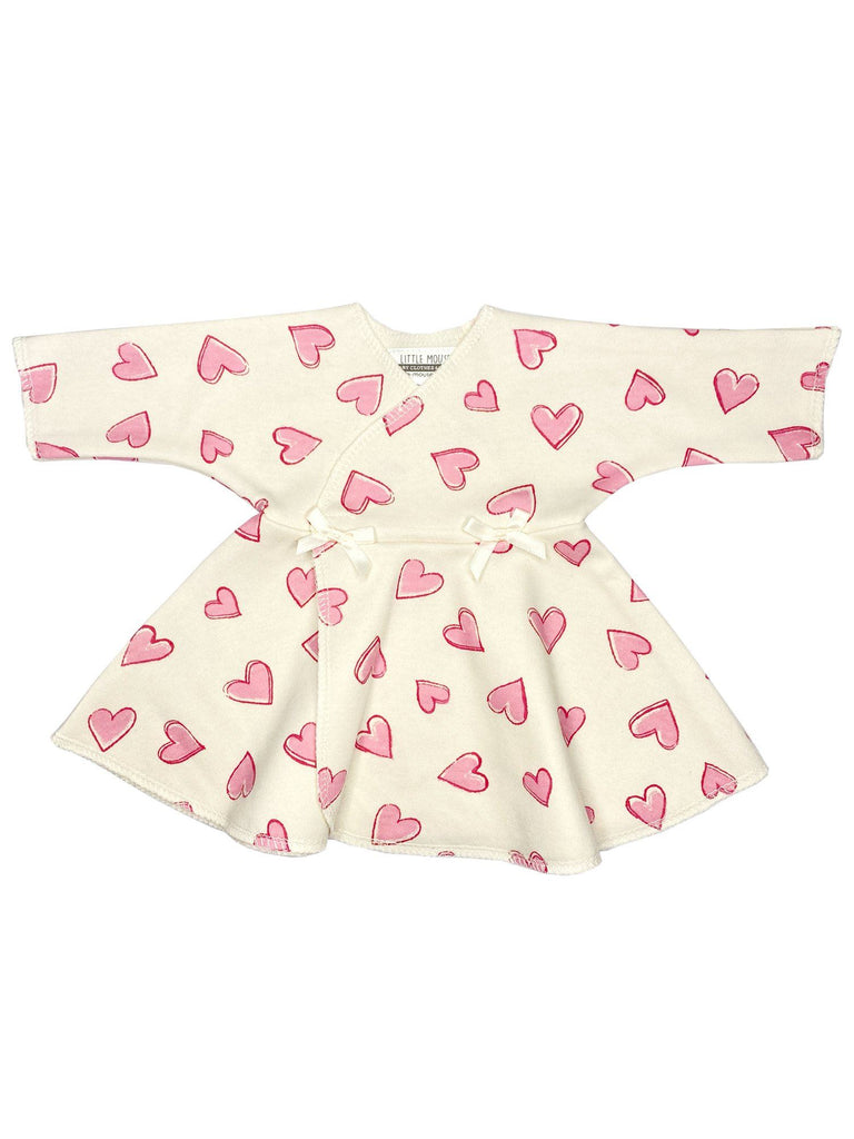 Pink Heart Premature Baby Dress (4-6lb)