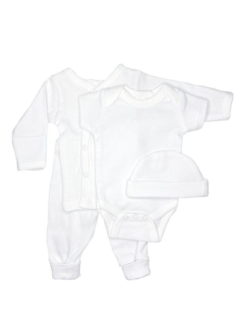 Classic White 4 piece set - Vest, Top, Trousers & Hat (4-7lbs)