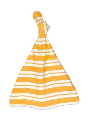 Yellow Stripe Knotted Premature Baby Hat (1.5-3lb & 3-5lb)