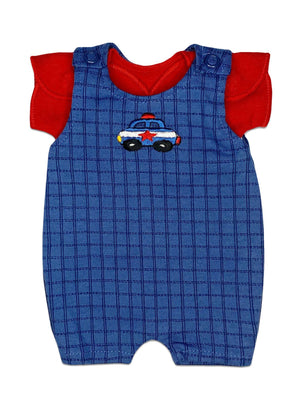 Little Police Car Dungaree and T-shirt Set (Premature Baby, 1-3lb)