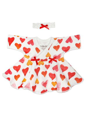 Big Heart Flare Dress & Headband (1-3lbs & 3-5lb)
