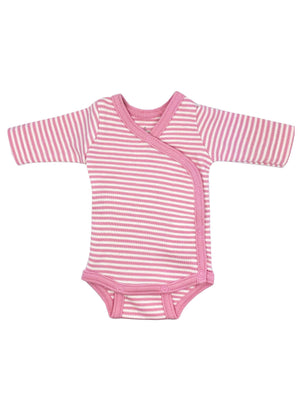 Organic Cotton Pink Thin Stripe Long Sleeve Vest (1.5-3lb, 3-5lb & 6-8lb)