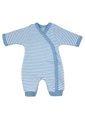 Organic Cotton Thin Blue Stripe Sleepsuit (1.5-3.5lb and 3-5lbs)