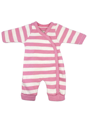 Organic Cotton Thick Pink Stripe Sleepsuit (1.5-3.5lb and 3-5lbs)