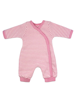 Organic Cotton Thin Pink Stripe Sleepsuit (1.5-3.5lb and 3-5lbs)