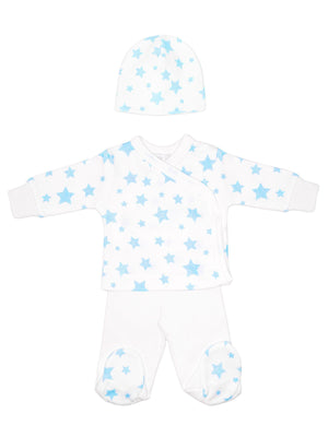 Blue star wrap, trousers & hat set (3lb-5lb)