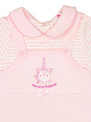 'You Are Magical' Unicorn Dungarees & Hat Set (3-5lb & 5-8lbs)