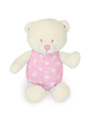Pink Polkadot Bear Rattle Toy