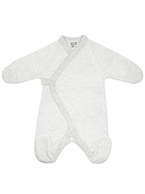 Early Baby Footed Sleepsuit - Grey Stripe (3-5lbs)