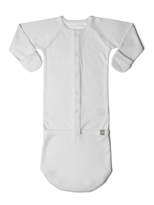 Premature Baby Sleeping Sack / Gown - Mist Grey