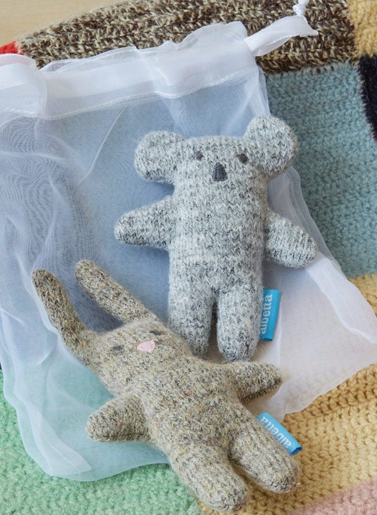 Koala and Bunny Soft Knit Set - rattle - Albetta UK - Little Mouse Baby Clothing & Gifts
