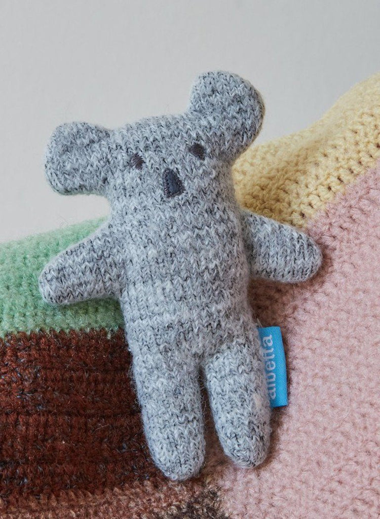Soft Knit Cute Koala Rattle - rattle - Albetta UK - Little Mouse Baby Clothing & Gifts