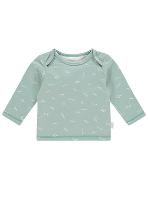 Grey Mint with White Doodle Design Top - Tiny Baby Size (4-7lb) & 4-6 months