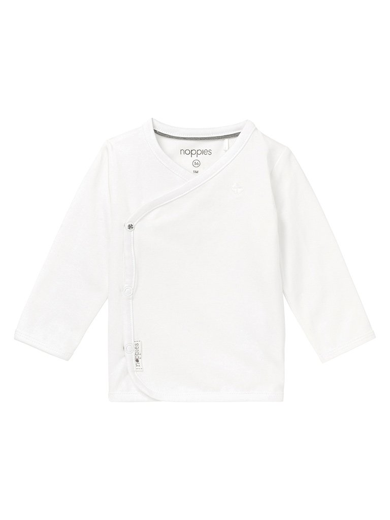 Long Sleeve Wrap-over Top - White (4-7lb & Newborn)