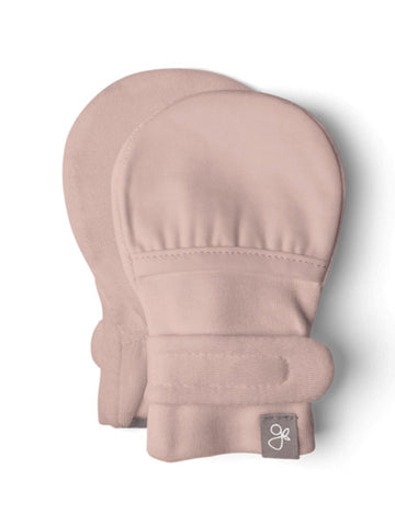 Stay-On Scratch Mitts - Dusty Pink (0-3 Months)