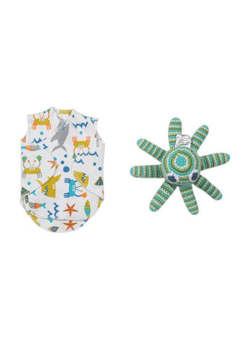 Under The Sea NICU Vest & Organic Octopus Rattle