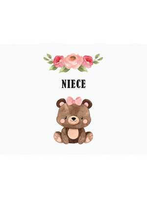 Niece - New Baby Card - New baby card - Little Mouse Baby Clothing & Gifts