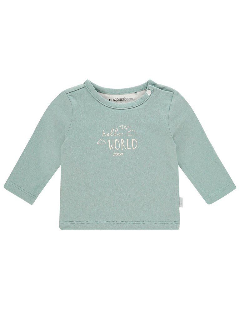 Grey Mint 'Hello World' Slogan Top - Tiny Baby Size (4-7lb)