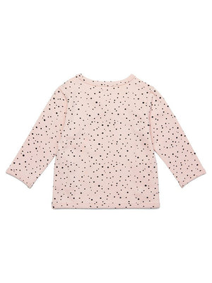 Polkadot Peach Pink Top - Organic Cotton (Tiny Baby, 4-7lb)