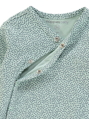 Mint Playsuit with Polkadots - (Size 4lb-7lb)