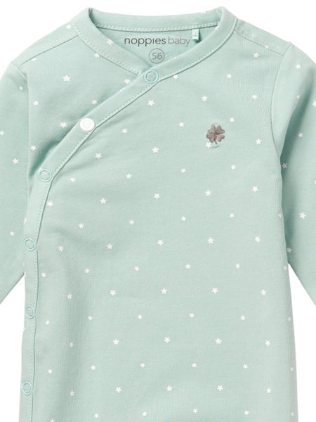 Mint playsuit with stars - (Size 4lb-7lb)