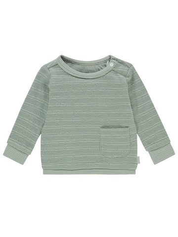 Khaki Stripe Sweater - Organic Cotton (Tiny Baby, 4-7lb)