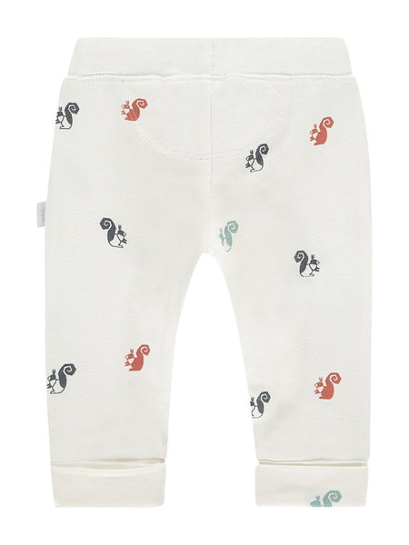 Cream White Squirrel Jersey Trousers  (Tiny Baby, 4-7lb)