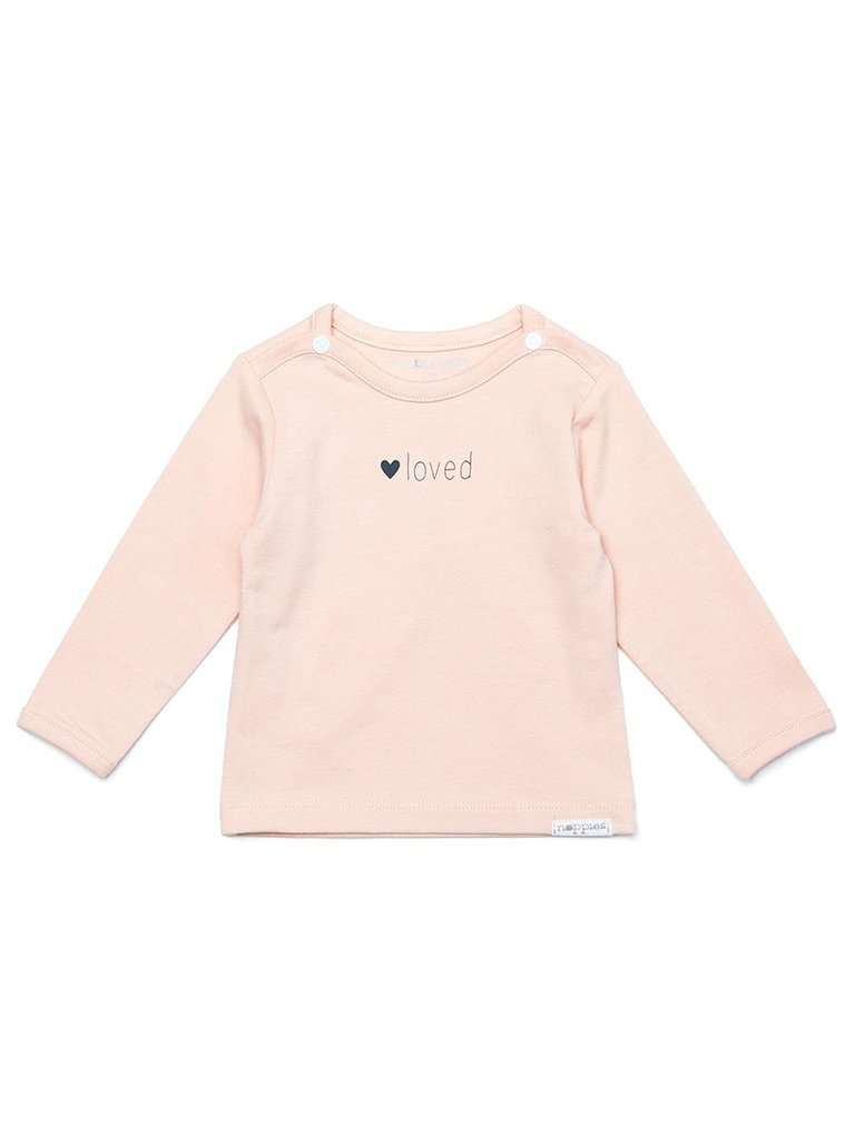 Peach 'Loved' Top - Organic Cotton (Tiny Baby, 4-7lb)