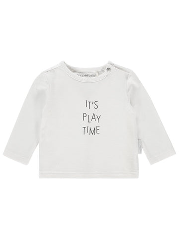 Organic Cotton 'Its Playtime' Slogan Top - Tiny Baby Size (4-7lb)