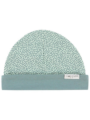 Mint Polka Dot Star Hat - Reversible (Tiny Baby, 4-7lb)