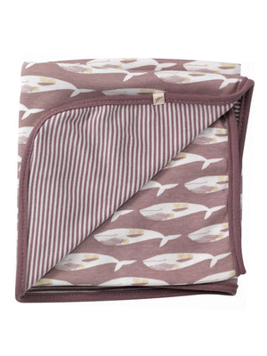 Purple Whale Print Blanket by Pigeon Organics