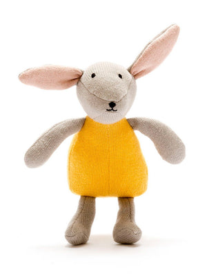 Organic Cotton Mustard Bunny Rabbit Toy