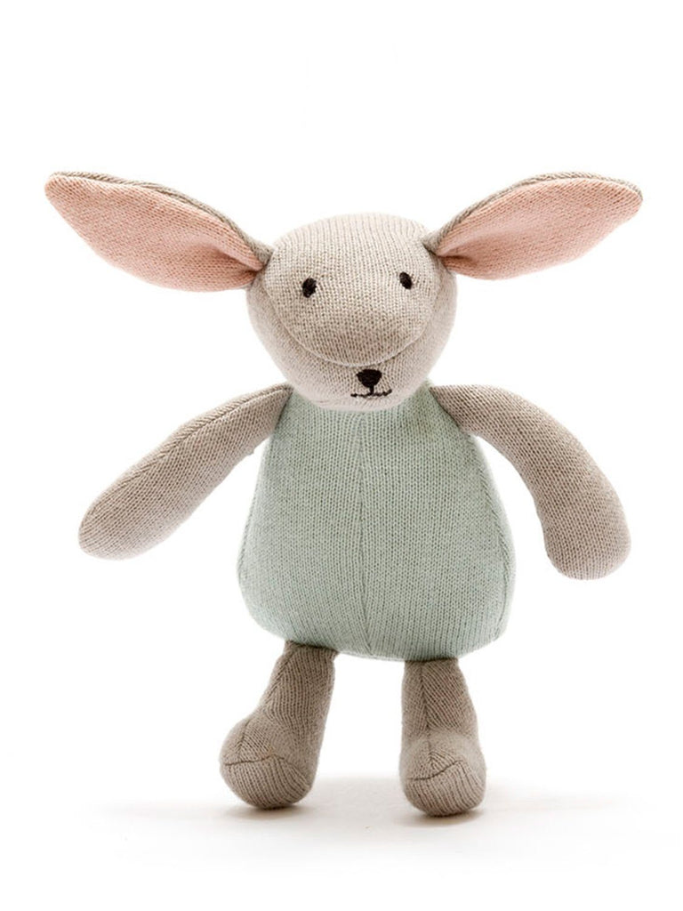 Organic Cotton Teal Bunny Rabbit Toy