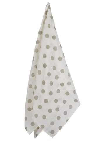 GOTS Certified Organic Cotton Large Oversize Polka Dot Swaddle Blanket