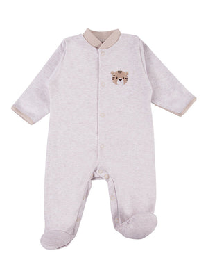 Early Baby Footed Sleepsuit, Cute Bear Design - Tiger (3-5lb & 5-8lb)