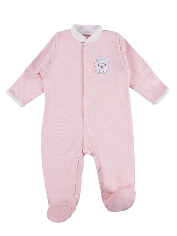 Early Baby Footed Sleepsuit, Cute Alpaca Design - Pink (3-5lb & 5-8lb)